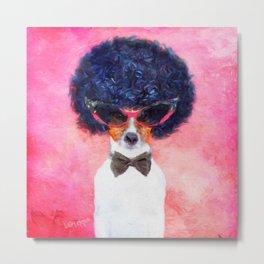 Charlie - Dog Portrait Metal Print