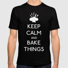Bake Things Mens Fitted Tee Black MEDIUM