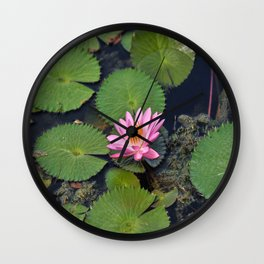Water Lily, I Wall Clock
