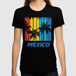Retro Isla Mujeres Mexico Palm Trees Vacation T-shirt