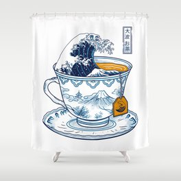 The Great Kanagawa Tee Shower Curtain