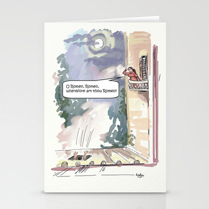O Romeo, Romeo, wherefore art thou Romeo? Stationery Cards