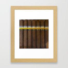 Cuban Cohibas Framed Art Print