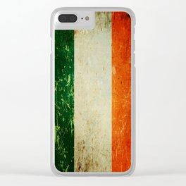 Grunge Irish Flag / Irish Tricolour Clear iPhone Case