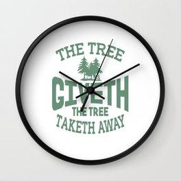 Tree Giveth And Taketh Away Disc Golf Wall Clock