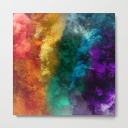 Rainbow Smoke Metal Print