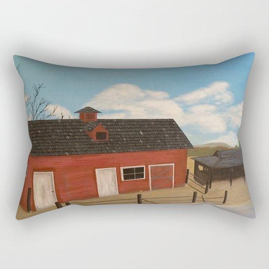 Rustic Barn Rectangular Pillow