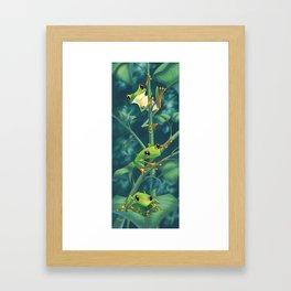 I love Being Green! Framed Art Print