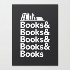 Books & Books & Books Canvas Print
