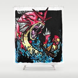 Red Gyarados Shower Curtain