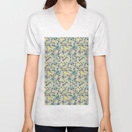 painted floral Unisex V-Neck