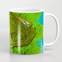 GREEN SWAMP FROG & GREEN FERNS Coffee Mug