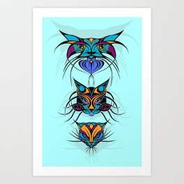 TRIBAL CATS Art Print