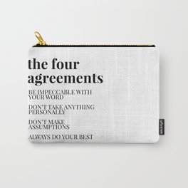 the four agreements Carry-All Pouch