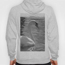 Black and White Swan Hoody