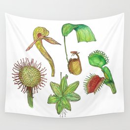 Carnivorous Plant Collection Wall Tapestry