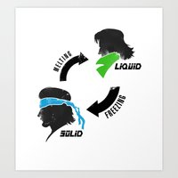 metal gear solid Art Prints featuring Metal Gear: Solid Liquid States by Bendragon