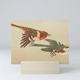 Vintage Print - Bay-Breasted Warbler & Chestnut-Sided Warbler Mini Art Print