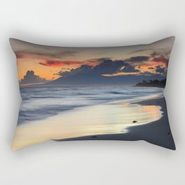 Magic red clouds. Sea dreams Rectangular Pillow