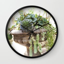 Overflowing Succulents Wall Clock