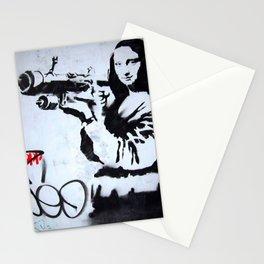 Banksy Mona Lisa Bazooka Stationery Cards