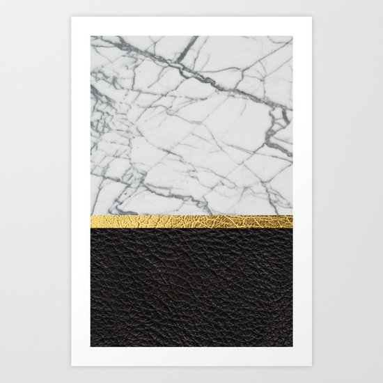 marble and leather Art Print