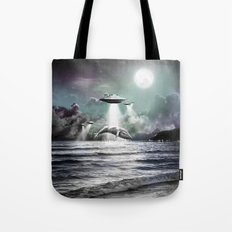 Whaling UFO Tote Bag