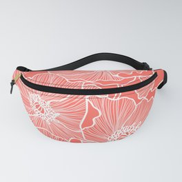 Coral Poppies Fanny Pack