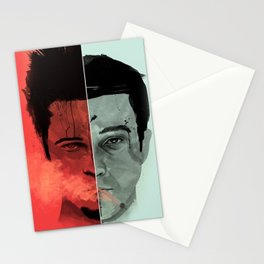 Tyler Durden V. the Narrator Stationery Cards