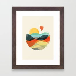 Let the world be your guide Framed Art Print