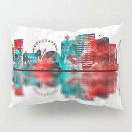 Geneva Switzerland Skyline Pillow Sham