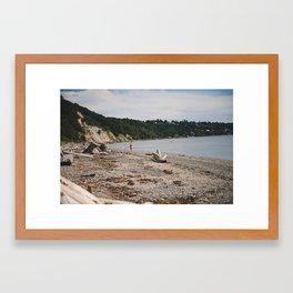 Seashell Hunting Framed Art Print