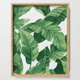 Tropical banana leaves IV Serving Tray
