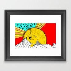 sad mornings Framed Art Print