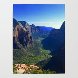 Top of Angel's Landing-Utah Poster
