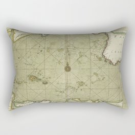 A large draught from Benjar on the Island of BORNEO to Macasser on the Island of CELEBES shewing the streights of Bally with the Island to the Eastwar Rectangular Pillow