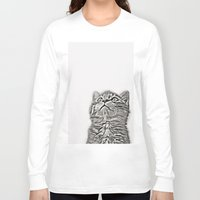 kitten Long Sleeve T-shirts featuring Kitten by Vicky Lewis