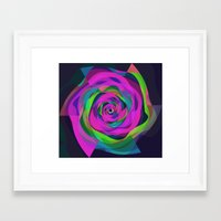 arya Framed Art Prints featuring Spiral Colourful Design by Hinal Arya