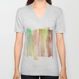[161228] 22. Abstract Watercolour Color Study |Watercolor Brush Stroke Unisex V-Neck