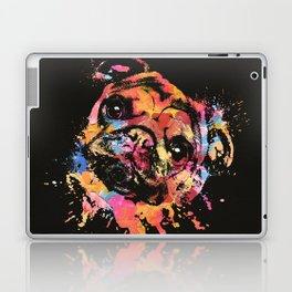 Pastel Paint Pug dog Laptop & iPad Skin