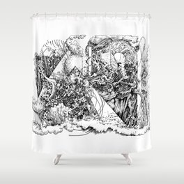 symptomatic recline Shower Curtain