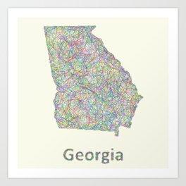 Georgia map Art Print