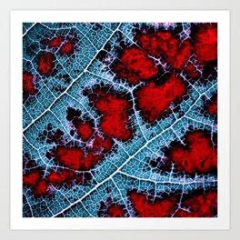 leaf structure macro III Art Print