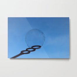 Bubble and Blue Sky Metal Print