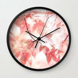 Autumn Through Rose-Colored Glasses Wall Clock