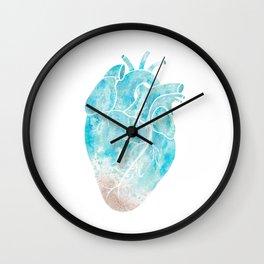 Saltwater Heart Wall Clock