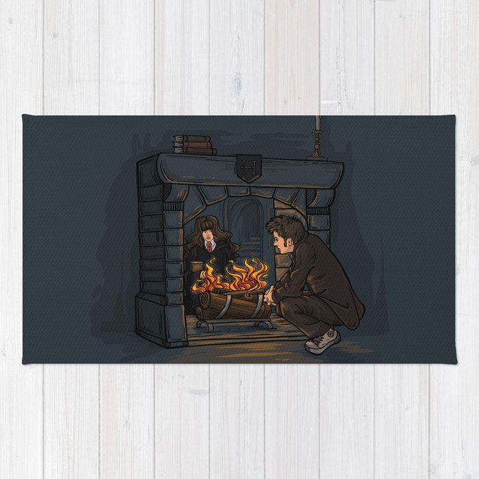 The Witch In The Fireplace Rug By Karenhallion Society6