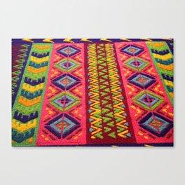 Colorful Guatemalan Alfombra Canvas Print