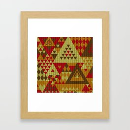triangles-brown-red-orange-KNIT Framed Art Print