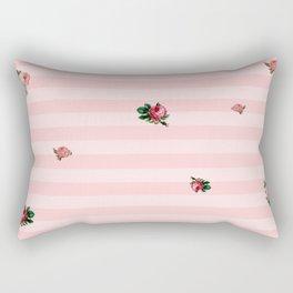 Rose Stripes Rectangular Pillow